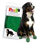 Pawz Dog Boots   Dog Paw Protection with Dog Rubber Booties   Dog Booties for Winter, Rain and Pavement Heat   Waterproof Dog Shoes for Clean Paws   Paw Friction for Dogs   Dog Shoes (Green)