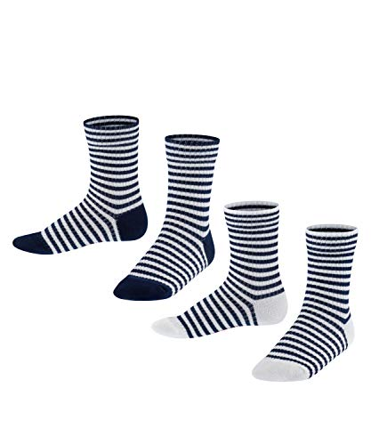 ESPRIT Sporty Stripe 2-Pack K SO Calzini, Blu (Marine 6120), 27-30 Unisex-Bambini