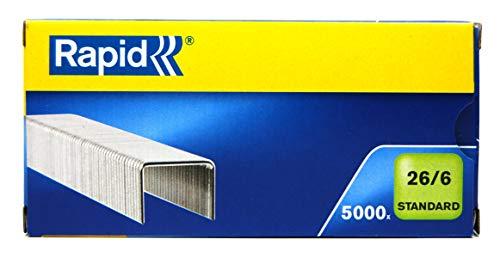 Rapid 24861800 Confezione 5000 Graffe a Filo, 26/6, Blu