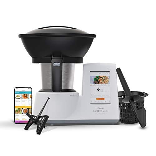 Taurus Mycook Touch Unlimited Edition - Robot de Cocina, wifi, 1600W, 2L, 140 grados, multifunción, app mycook miles de recetas, conectable con tu smartphone, Vaporera 2 niveles