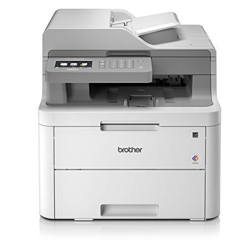 Brother DCPL3550CDW, Stampante a Colori LED, Wi-Fi e USB 2.0 Hi Speed, Multifunzione 3 in 1 (no...