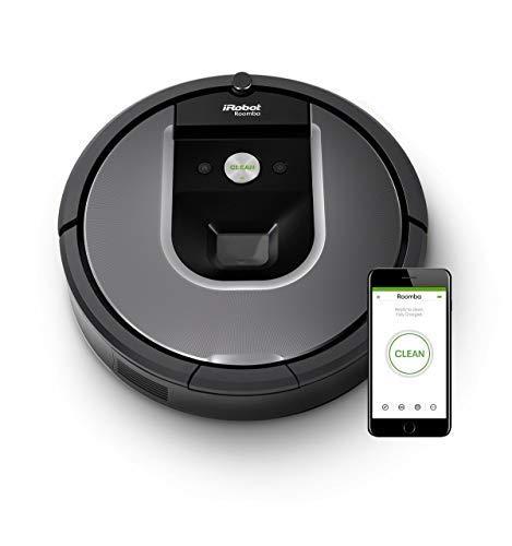 iRobot Roomba 960 Robot Aspirapolvere, Sistema di Pulizia Dirt Detect, Spazzole Tangle-Free, per...