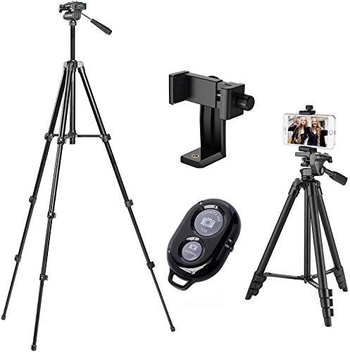 Aokiper Smartphone Statief   Voor smartphones en traditionele camera's   Ideaal voor selfies, groepsfoto's   Bereik van 10 meter   Bluetooth afstandsbediening