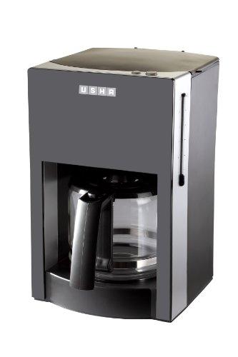 Usha 3230 1.25-Litre Stainless Steel Drip Coffee Machine (Black)