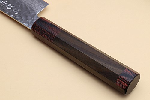 Product Image 5: Yoshihiro VG-10 46 Layers Hammered Damascus Sujihiki Japanese Slicer Knife (9.5'' (240mm) Rosewood Handle)