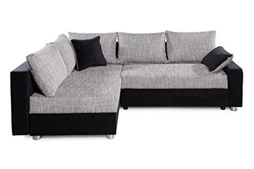 Collection AB Piacenza Ecksofa, Stoff, schwarz/grau, 161 x 224 x 83 cm