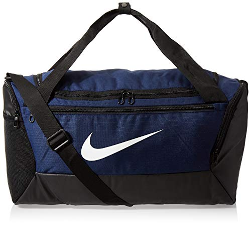 NIKE Brasilia Small Duffel - 9.0, Midnight Navy/Black/White, Misc