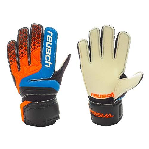 Reusch Prisma SD Easy Fit Junior guanti da portiere hartplatz bambini Nero/Arancione, electric blue...
