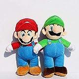 AESOON Super Mario Brothers Standing Peluche Toy Peluche Doll Toy Kid Toy Pareja Regalo de cumpleaños de Navidad 25 cm par