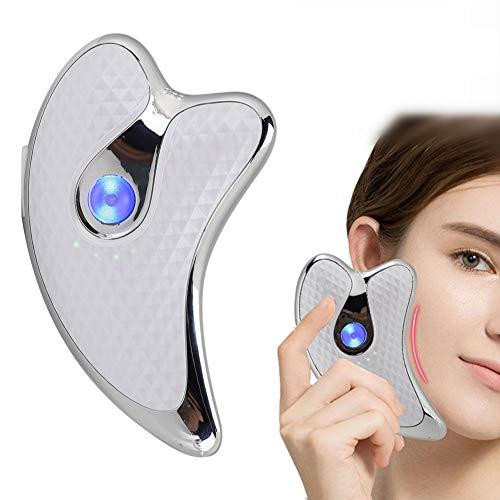 Masseur pour le visage Microcurrent Grattoir pour le visage Appareil de massage électrique pour le levage du visage Serrage de la peau Dispositif anti-rides 45 ° C Soin à température constante