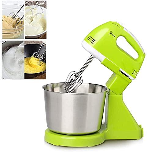 BAIRU knetmaschine überwigend Lebensmittelständermischer mit Schüssel | 7 Geschwindigkeit Automatische Whisk-Hand-Lebensmittelmischer | Eierbeamter-Mixer mit Schüssel für Küche, grün