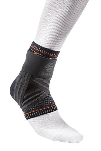 Shock Doctor Ultra Knit Ankle Brace W/Figure 6 Strap & Stays Black,...