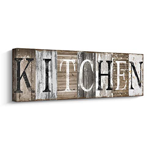 Rustic Farmhouse Kitchen Wall Decor Canvas Prints Kitchen Signs...