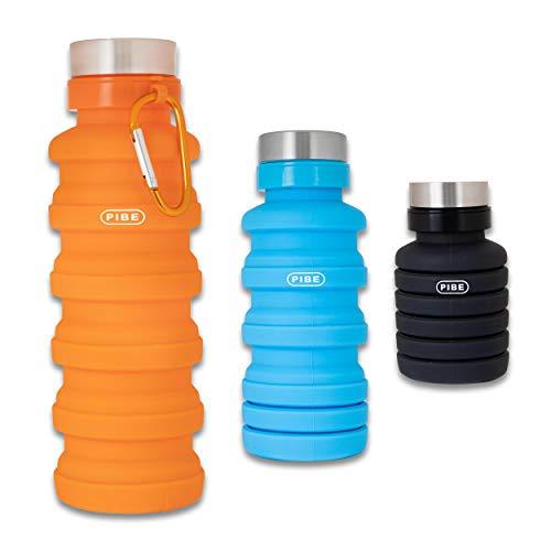 PIBE Bouteille d'eau pliable de 500 ml en silicone sans BPA pour sport,...