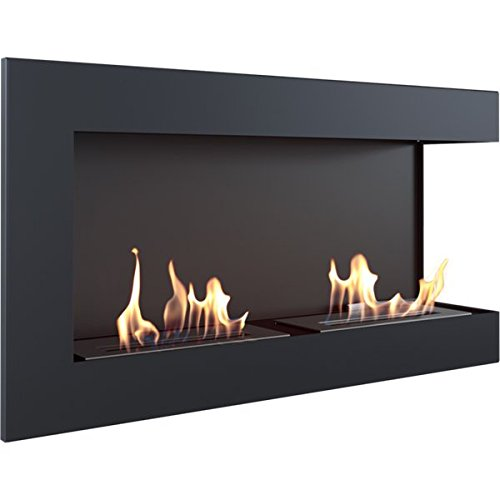 Bio Ethanol Fireplace Lecce 900Bioethanol Wall Mounted Fireplace/with Protective Glass