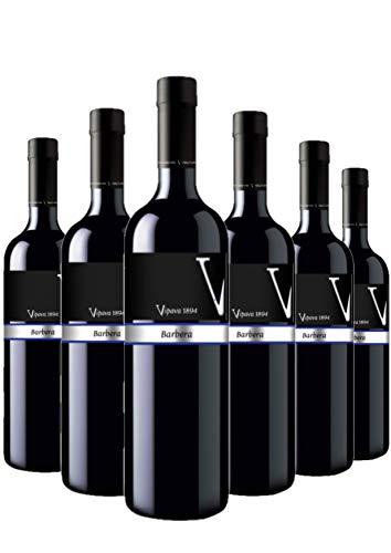 Vino rosso Vipava 1894 BARBERA Prestige, vino rosso secco raccolto a mano (6 x 0,75 l)