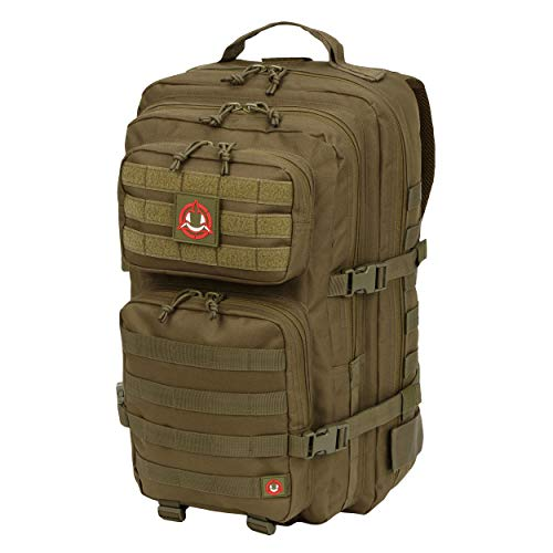 Orca Tactical Military Backpack - Large Military Grade Backpack - Army Inspired Salish 40L - External MOLLE Mounted 3 Day Survival Bag - Rucksack Pack(OD Green)
