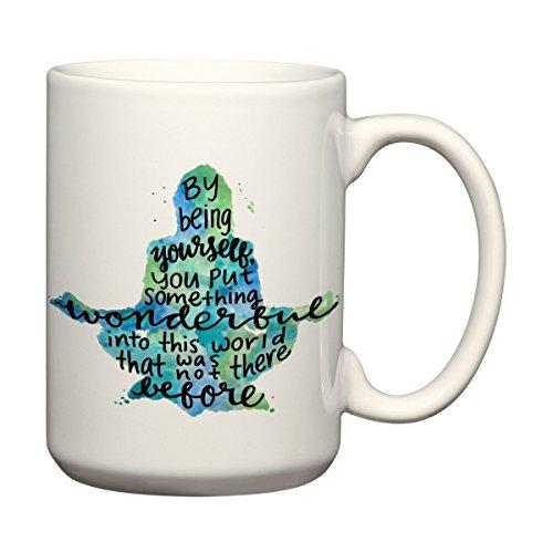 By Being Yourself 15 ounce Quote Mug Meditation Coffee Mug...