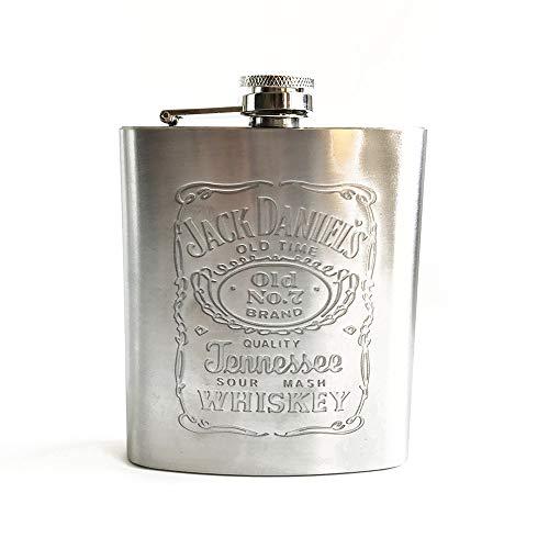 2 pz portatile dell'anca dell'acciaio whisky viaggio boccetta bottiglia di liquore alcool acciaio...