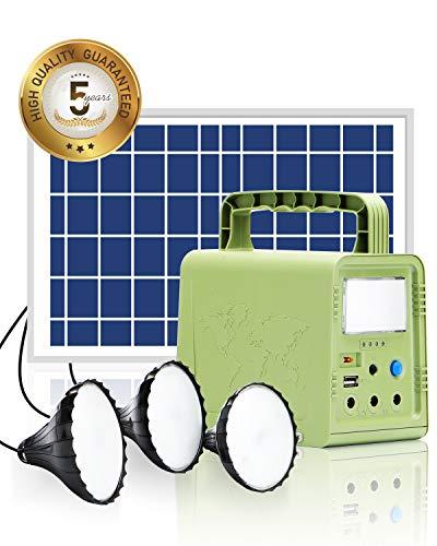 WAWUI Portable Solar Generator 84Wh with Solar Panel & Flashlights,