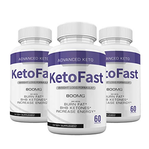 (3-Pack) Keto Fast Diet Pills Advanced Ketogenic Keto Fast Burn Ultra Weight Management Capsules 700mg Pure Keto Fast Supplement for Energy - BHB Boost Exogenous Ketones for Rapid Ketosis Men Women 1