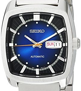 Seiko Men's RECRAFT Series Stainless Steel Automatic-self-Wind Watch with Stainless-Steel Strap, Silver, 21 (Model… 21