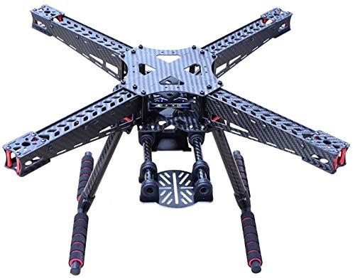 XHUENG Alta qualit Kit Telaio quadricottero in Fibra di Carbonio 450 450mm RC FPV Racing Drone Carrello di atterraggio Skid Set Accessori per Aerei a 4 Assi Fai-da-Te Accessori per quadricotteri
