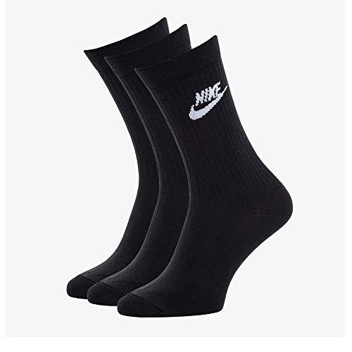Nike U Nk NSW Evry Essential Crew, Calzini Unisex Adulto, Black/White, L
