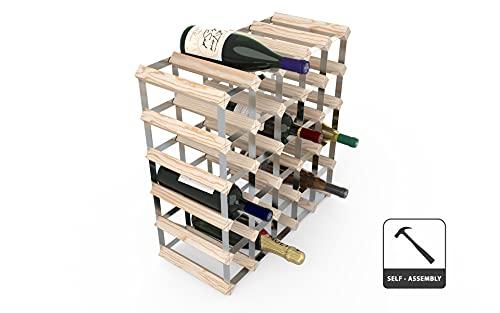Longlife WINE0100 Cantinetta per 30 Bottiglie, Metallic, Wood, Legno