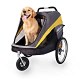 Ibiyaya Large Pet Stroller for One Large or Multiple Medium Dogs - Easy to Carry Stroller - Premium Pet Travel Accessories