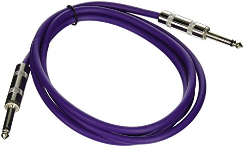 Seismic Audio SASTSX-6Purple-6PK 6-Feet TS 1/4-Inch Guitar, Instrument, or Patch Cable, Purple