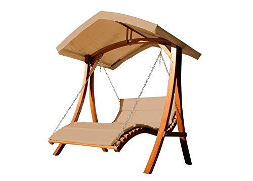 Design Hollywoodliege Doppelliege 'Aruba' aus Holz...