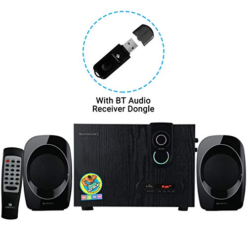Zebronics Zeb- sw2492 Rucf 2.1 Multi Media Speaker Supporting Bluetooth via dongle , Sd Card, USB Input and FM