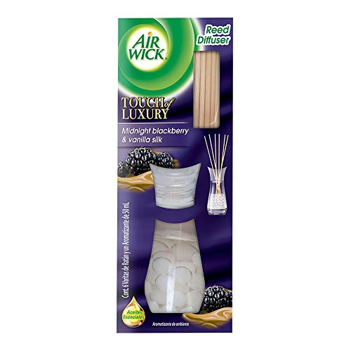 Air Wick Reed Diffuser Aromatizante de Ambiente, Midnight Blackberry &Vanilla Silk, 50ml