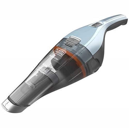 BLACK+DECKER NVC215W NVC215W-QW, Aspirabriciole 10.8 W/H, 7.2 V, Solidi, Litio, Azzurro