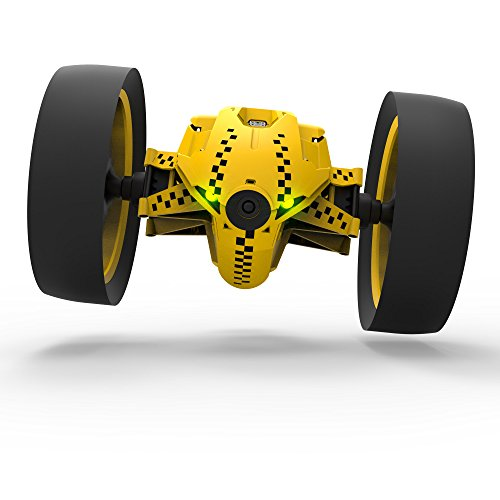 [Japanese regular Edition] drone Parrot Minidrones Jumping Race Tuk Tuk 2-wheel robot 14km/h 75cm per saltare Racing Wide LED microfono speaker giallo PF724330
