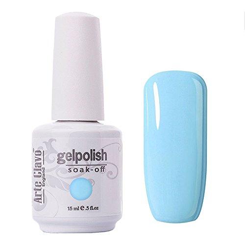 Arte Clavo Azure Light Sky Blue Nail Gel Polish Harmless Resin Professional Lacquer Soak Off Nail Art UV Lamp & LED 15ml