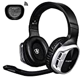 Wireless Gaming Headset, EasySMX 2.4G Wireless Headset with 7.1 Surround Sound for PS4 PS3 Xbox PC Laptop, Rechargeable Gaming Headset