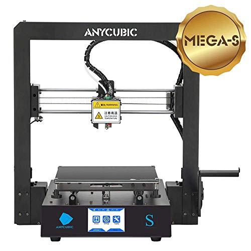 ANYCUBIC MEGA-S 3D Drucker mit Guter Qualität, neuem Extruder, Stabilen Vollmetall-Rahmen und Ultrabase Heizbett für 1,75 mm Filamente TPU, PLA, ABS geeignet (ANYCUBIC S)
