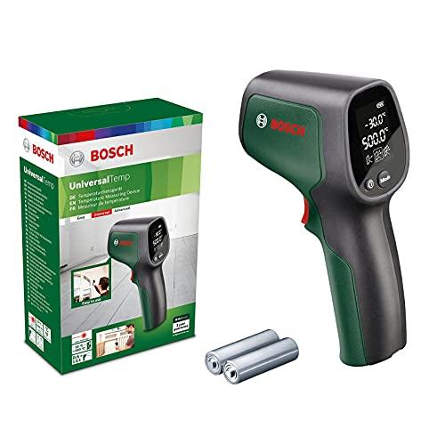 Bosch thermomètre infrarouge portable UniversalTemp (plage de températures : -30 °C à +500 °C, 2 piles AA, dans boîte en carton)