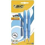 BIC EasyClic Stylos-Plume Rechargeables - Violet, Bleu ou Turquoise (sans...