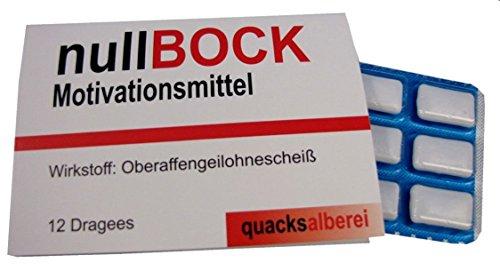 """quacksalberei Witzige Kaugummis """"null Bock"""""""