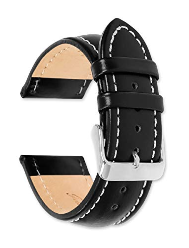 Breitling Style Oil Tanned Leather Replacement Watch Strap/Watch Band   20mm Black