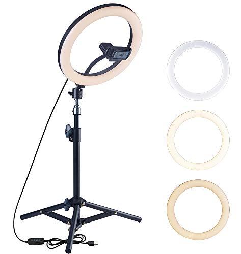 OXENDURE Supporto treppiede per Webcam Luce ad Anello per videoconferenza, per Webcam Logitech C925e C922x C922 C930e C930 C920 C615,GoPro Hero 8/7/6/5, Arlo Ultra/PRO/PRO 2/PRO 3/Brio 4K