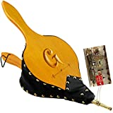 TJ.MOREE Fireplace Bellows 19'x 8' Custom Large Wood Fire Blower with Hanging Strap, Long Handle, Metal Nozzle, Great Tool for Fireplace, Fire Pit, Wood Stove, BBQ, Outdoor Camping - Initial G