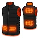 Heated Vest for Men/Women with Hidden Switch, USB Charging Heated Jacket Washable for Outdoor Motorcycle Riding Fishing Hunting Camping(L)