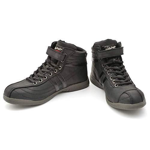 デイトナ ヘンリービギンズ バイク用 ライディング シューズ 25.0cm ブラック 安全靴 ハイカット HBS-001 97208