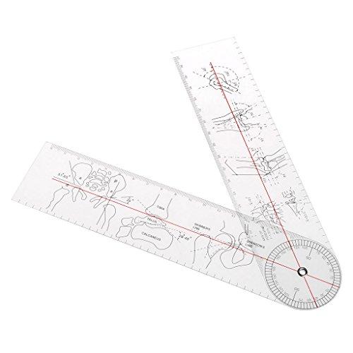 A0127 - Goniometro angolare, regola righello medico, ortopedico, strumenti in plastica
