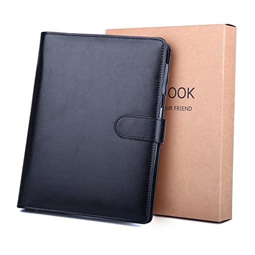 Cuaderno de piel A5 BESTOO Recargable Hojas Sueltas para Negocios Conferencias Viajes Libreta Cuaderno de 100 Páginas de Grosor (Negro)