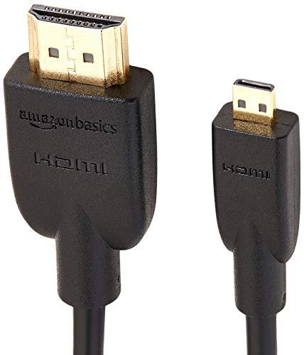 Amazonベーシック HDMIケーブル 1.8m (タイプAオス - マイクロタイプDオス) 2点セット ハイスピード